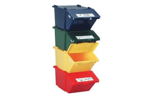COSURI din material plastic cu capac basculant 45 l waste