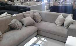 Mocha L shape couch