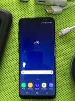 Samsung Galaxy S8 with wireless charger