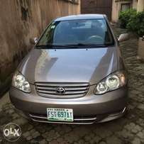 Neatly used Toyota Corolla 2004 model for grabs