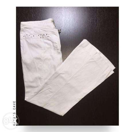 Vintage low-waisted Flare White pants
