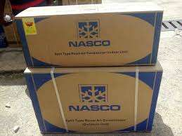 Fresh NASCO 1.5HP Mirror Split Air Conditioner plus free watch