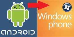 need to change your windows phone to android