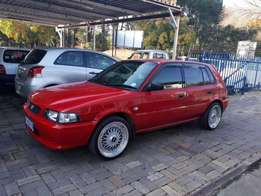 """Toyota tazz 160i 17"""" mags a/c alarm p/steering good condition/R12000"""