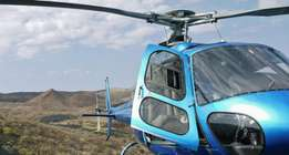 Chartered helicopter flights
