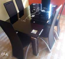 High class glass dining table