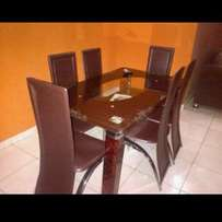 998 dining table brown 6setters