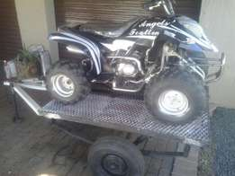 dacar quad 150cc and trailer for sale
