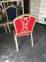 Banquet chair with a iron back
