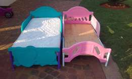 1 X Pink Toddler bed & 1 X Doc Mc Stuffins Toddler bed For sale