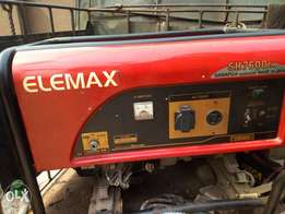 6.5kva Elemax generator, Original Japan copper coil in perfect conditn
