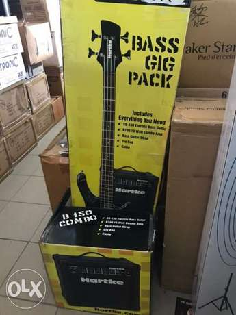 bass guitar and amp Hartke package