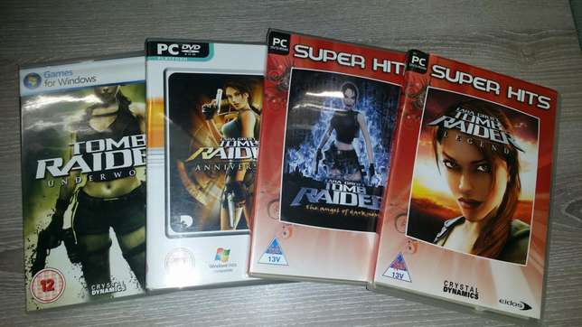 Lara Croft Tomb Raider Collection for PC- 4 games. R250 for the lot. Bellville - image 1