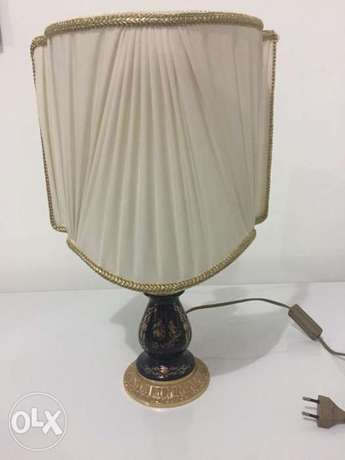 antique Italian porcelains lampshade 24 k gold