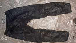 Leather riding trousers