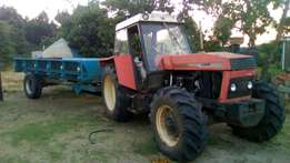 Running tractor 4x4 no problem with tipper bin