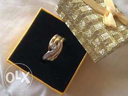 9ct Gold Diamond Ring with a matching Band - still new