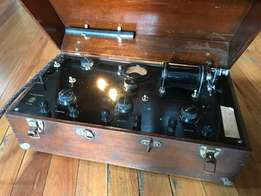 Antique Physiotherapy shock therapy steampunk device