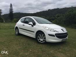Two door white Peugeot 207 for sale