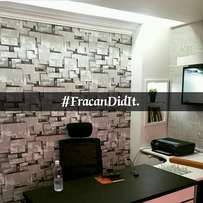 Wallpaper. Let's give your office that corporate look.