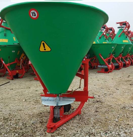 Top-Agro Mineral Fertilizer 200 L, Inox Spreading Unit - 2019
