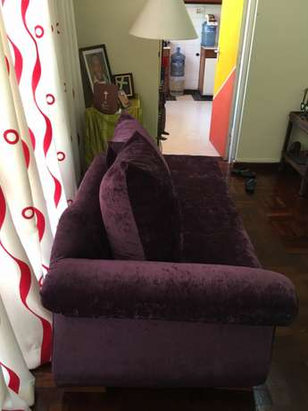 Divan; Classic; 3seater; royal purple; elegant; unisex; as new. Kyuna - image 2