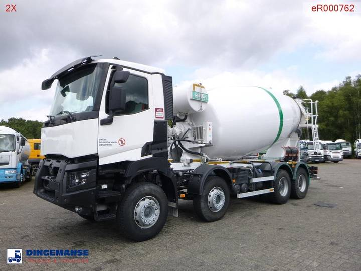 Renault K 430 8x4 Euro 6 Imer concrete mixer 12 m3 - 2018