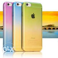 Colored tpu back covers for iPhone 6 6s