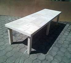 Patio table Farmhouse series 2950 with 6 legs Raw