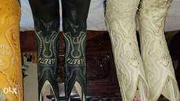 Original leather cowboy boots made in Mexico