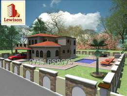 4 bedroom maisonette Architectural and structural drawing.