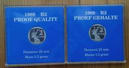 Excellent 1989 proof quality S.A R2 coin