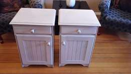 White Lime wash side tables for sale