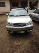 first body direct tokunbo Toyota Corolla 03 with full option
