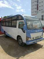 Kindergarten bus in a new condition