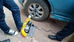Classic tyre inflator, air compressor. Tube air inflate or pressure