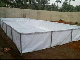 Imported fish pond with complete galvanised stand