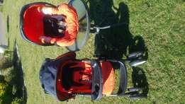 Graco pram and baby carrier combo