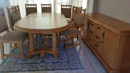 Oak Dining Suite and chairs