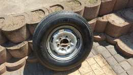 "195C/14"" rim and tyre"
