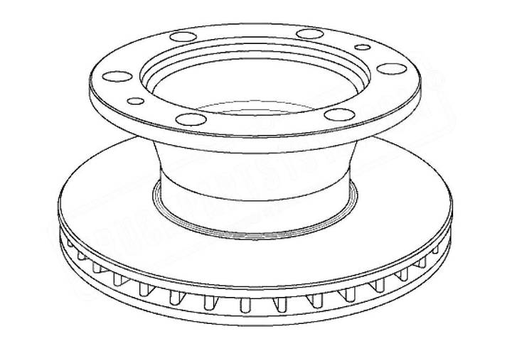 New TRUCKPARTS1919 brake disk for truck - 2019