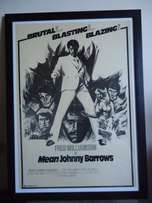 "Rhetro movie poster of the 1976 film "" Mean Johnny Barrows ""."
