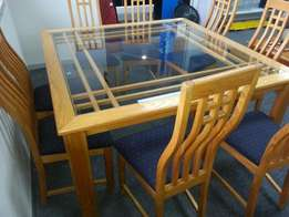Dinning suite Oak 8 chairs for sale