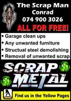 The scrap man free removals