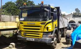 SCANIA P340 Tipper Truck 8 X 4 Double Steering Wheel,Cc 11021 Diesel E