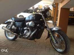 The Bike is a Honda 400cc Model VRX 2000 Racer...