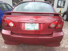 Clean registered corolla sport 07/08 model old body Ac chilling