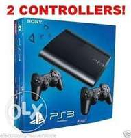 ps3 12bg go and 2 remotes stil new with box
