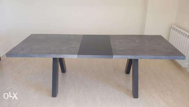 TemaHome Apex Extending Dining Table | Concrete Look
