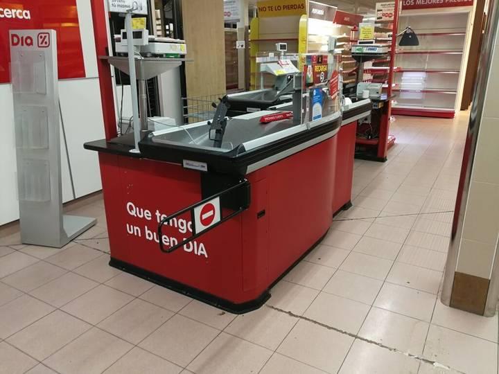 Sale lote de líneas de cajas de supermercado industrial equipment